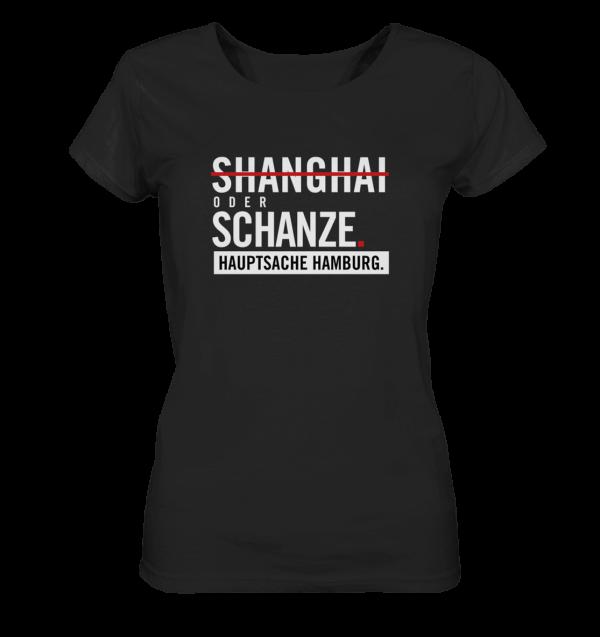 Weißes Sternschanze Hamburg Shirt Damen