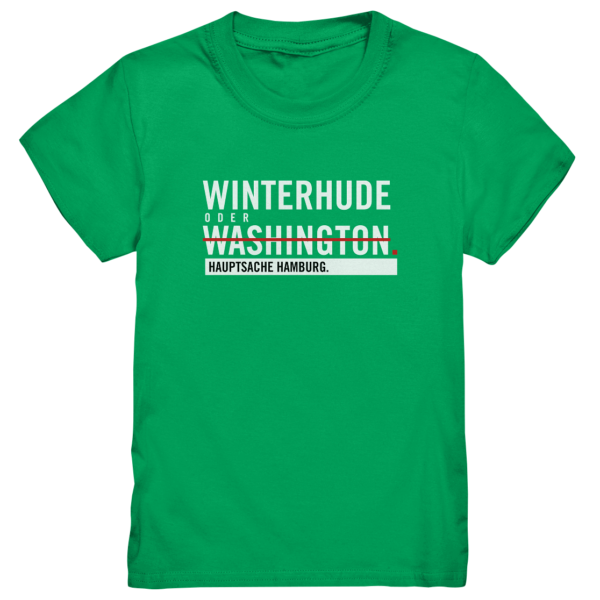 Grünes Winterhude Hamburg Shirt Kids