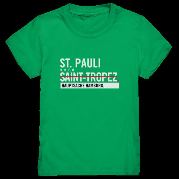 Grünes St Pauli Hamburg Shirt Kids