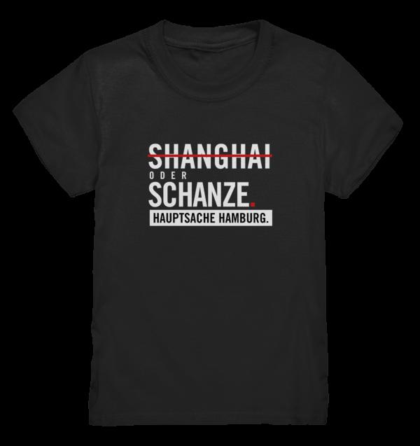 Schwarzes Sternschanze Hamburg Shirt Kids