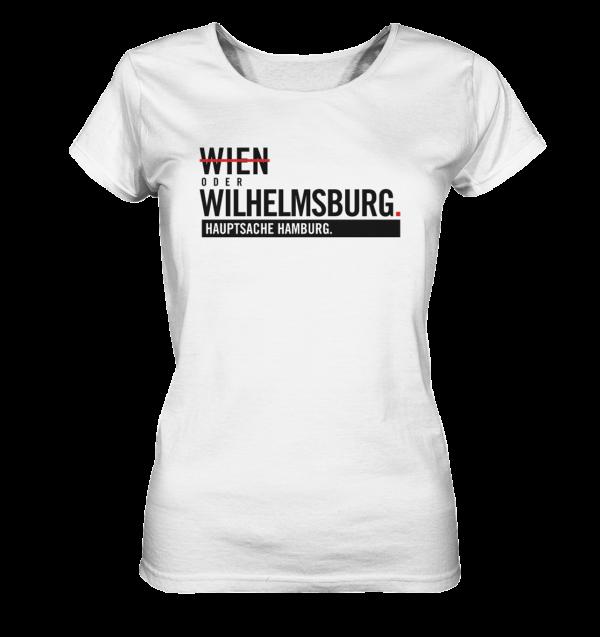 Weißes Wilhelmsburg Hamburg Shirt Damen