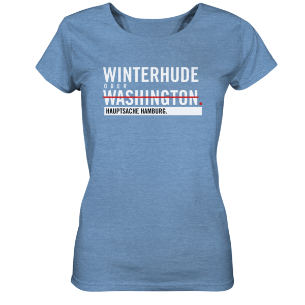 blaues Winterhude Hamburg Shirt Damen