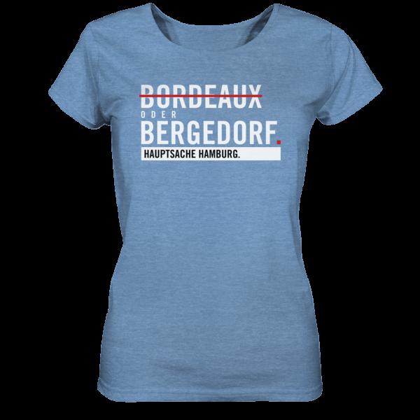 blaues Bergedorf Hamburg Shirt Damen