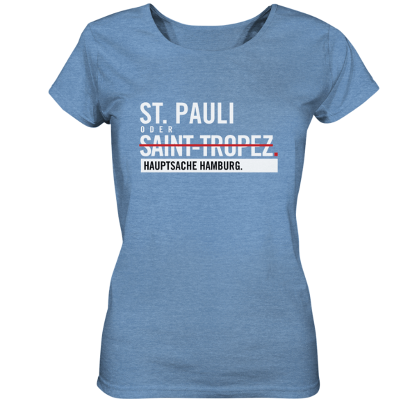 blaues St Pauli Hamburg Shirt Damen
