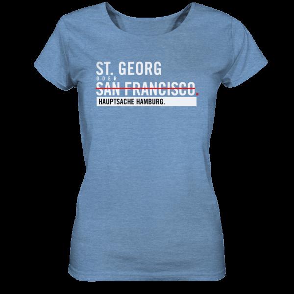 blaues St. Georg Hamburg Shirt Damen