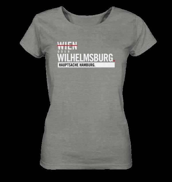 Dunkelgraues Wilhelmsburg Hamburg Shirt Damen
