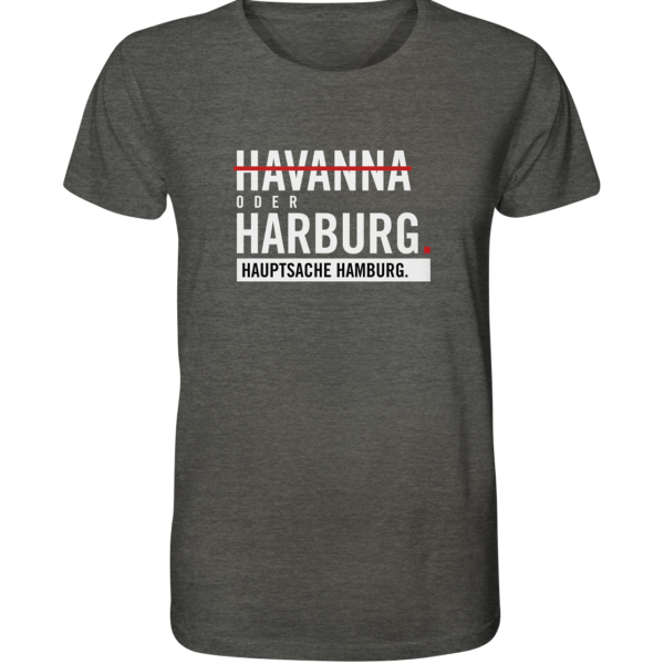 Dunkelgraues Harburg Hamburg Shirt Herren